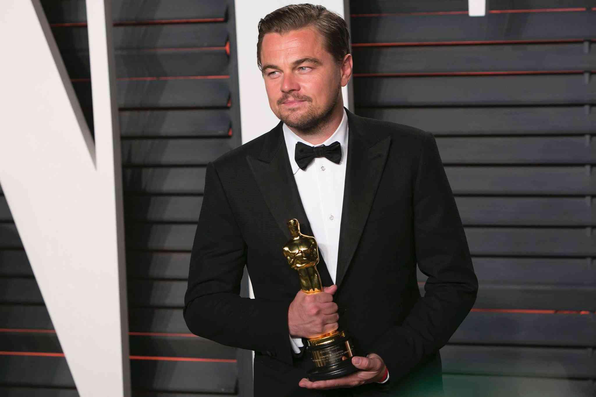 """Leonardo DiCaprio - Melhor ator pelo filme """"O Regresso"""""""