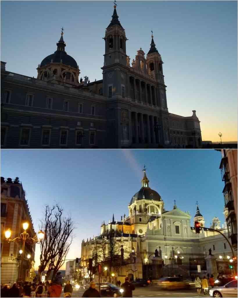 Foto: Fachada voltada pra o Palácio Real (Acima) e outra visão da Catedral (abaixo).
