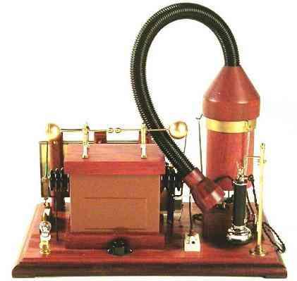 Uma réplica do protótipo do modelo utilizado por Landell. Foto: Divulgação.
