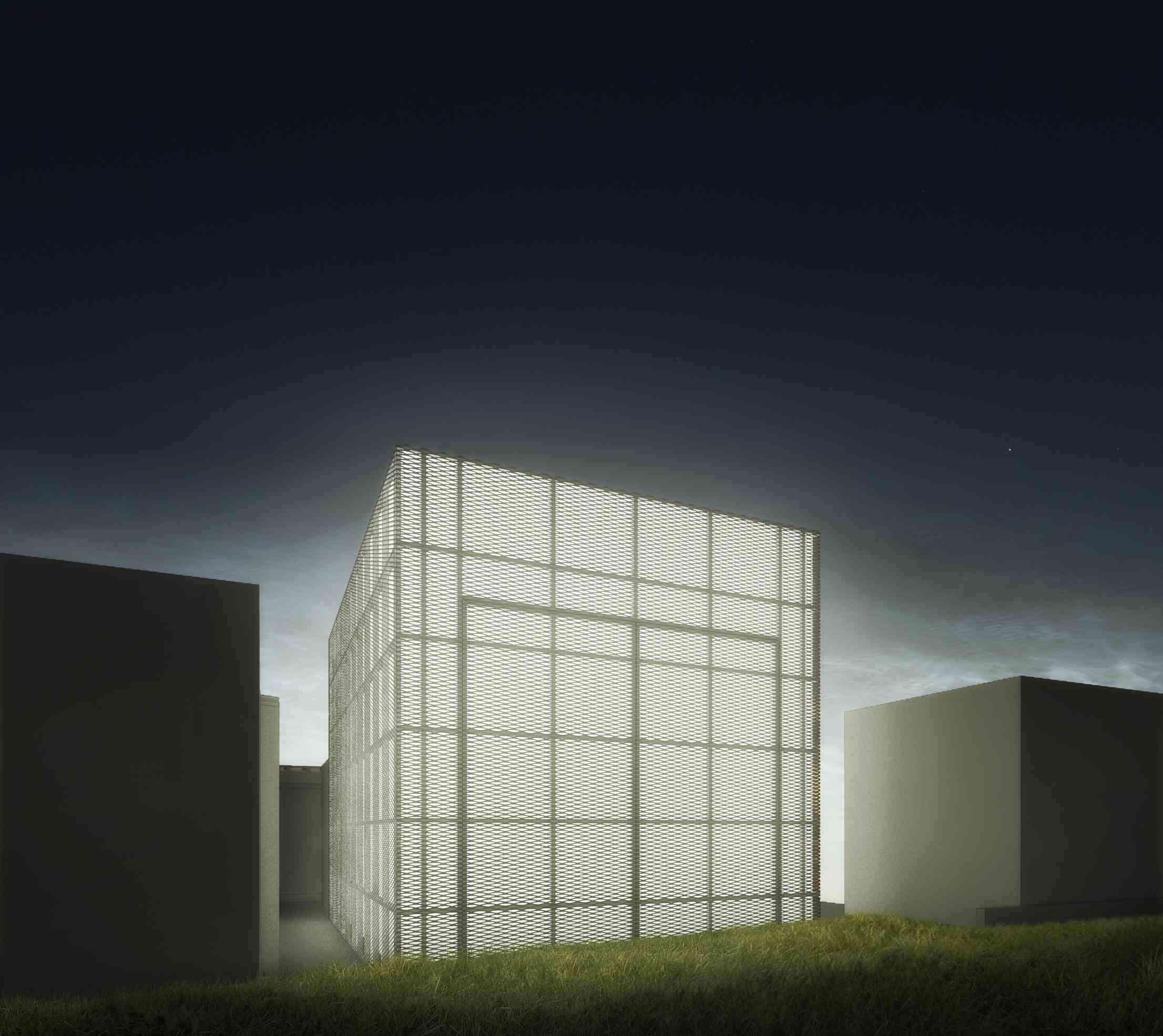 Imagem: Teatro Multiuso/Perspectiva Externa por Haiko Cirne Sinnema