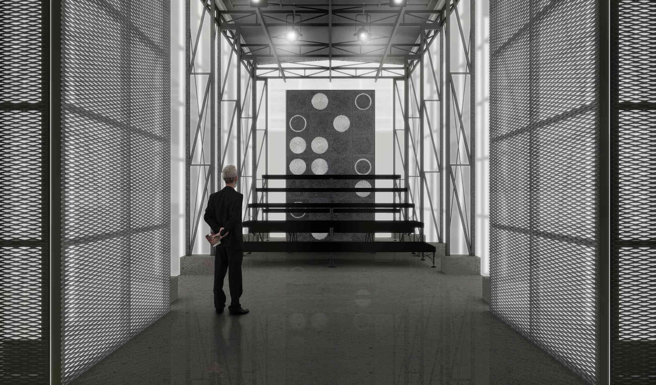Imagem: Teatro Multiuso/Perspectiva Interna por Haiko Cirne Sinnema