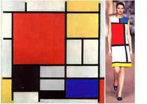 Vestido Mondrian de Yves Saint Laurent, 1965. Fonte: Artedescrita