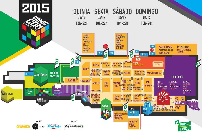 CCXP Mapa 2015