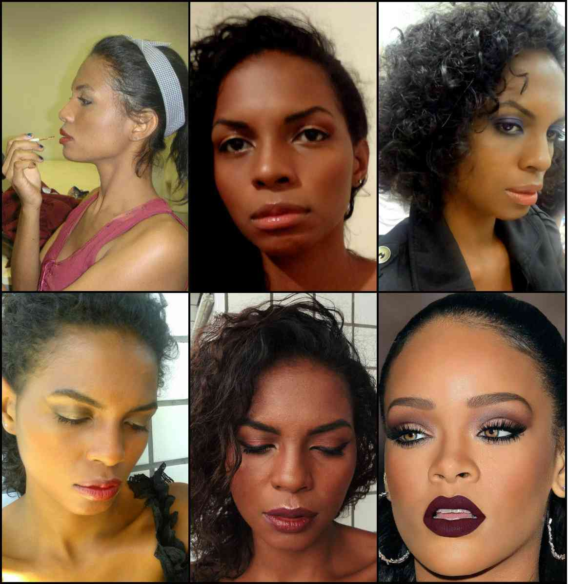 Invejosos dirão que a última foto é da Rihanna.