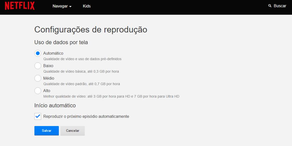 Configuração via web