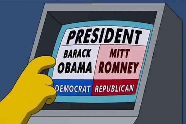 Momento em que os votos para Obama quase são computados para Mitt Romney (Foto: Reprodução)