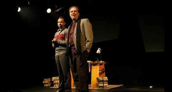Em cena os atores Victor Meirelles e Renato Prieto (Encontro Impossíveis)