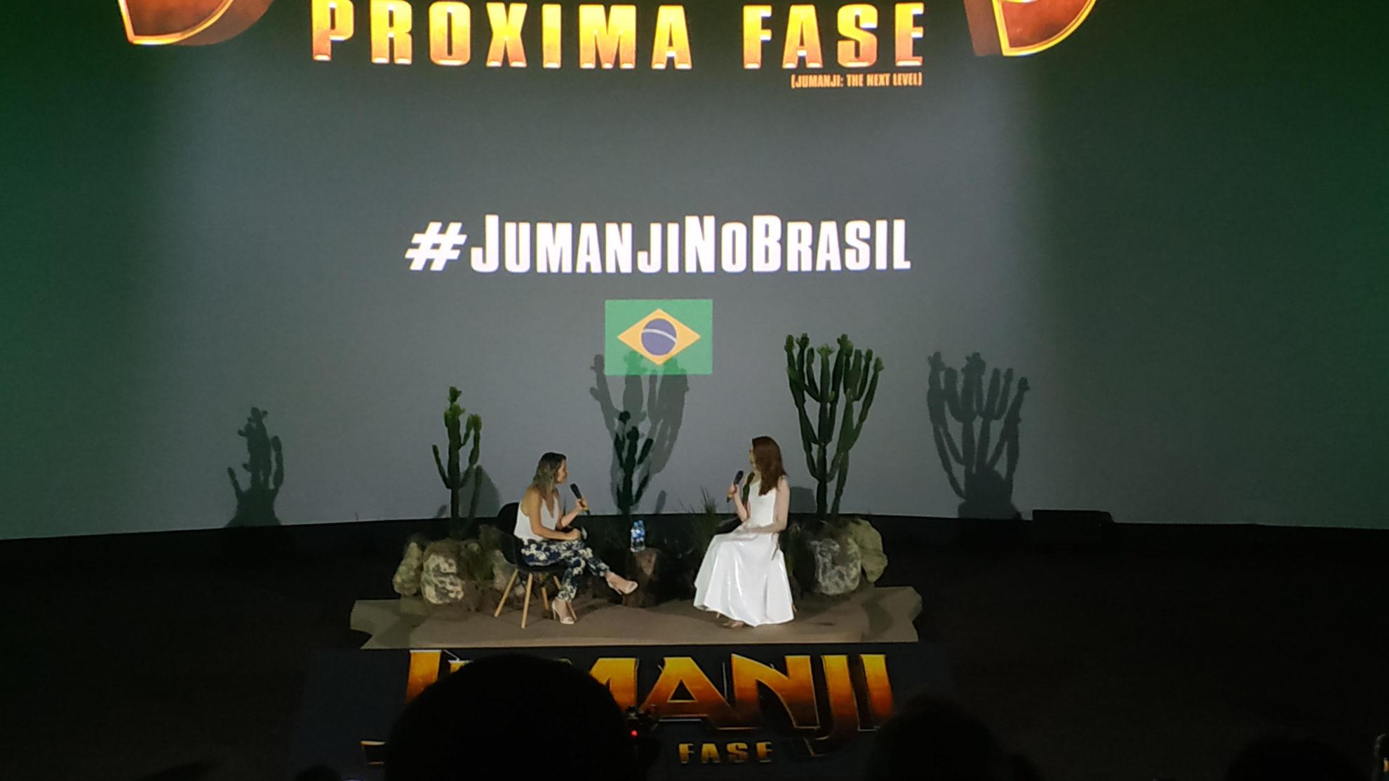 "Karen Gillan de ""Jumanji: Próxima Fase"" em passagem pelo Brasil"