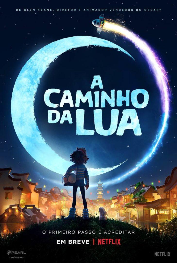 Poster da nova animação da Netflix, A Caminho da Lua