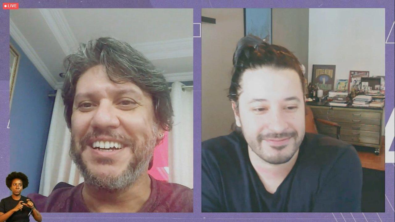 Rafael Grampá e Ivan Reis na CCXP Worlds
